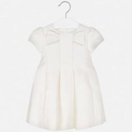 Sukienka z połyskiem dziewczęca Mayoral 4919-41 Kremowy