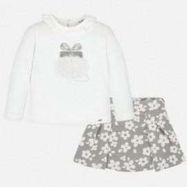 Komplet bluzka i spódnica dziewczęcy Mayoral 4947-16 Szary