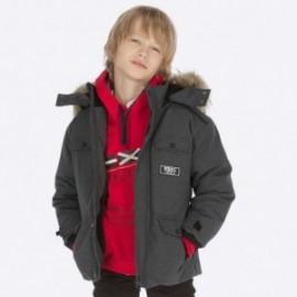 Kurtka z futerkiem chłopięca Mayoral 7444-43 Czarny