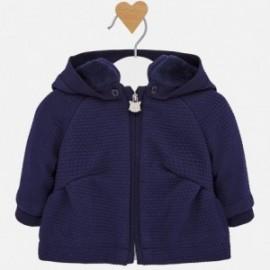 Bluza z kapturem ocieplana dla dziewczynki Mayoral 2411-31Granatowy