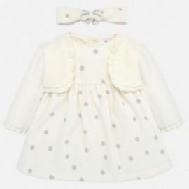 Sukienka z opaską dla dziewczynki Mayoral 2801-20 Kremowy