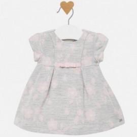 Sukienka żakardowa dla dziewczynki Mayoral 2818-96 Srebrny
