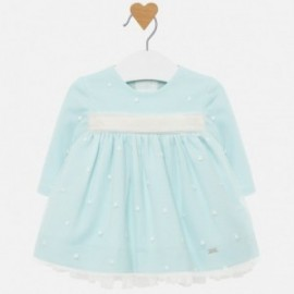 Sukienka tiulowa z haftem dla dziewczynki Mayoral 2820-88 Niebieski