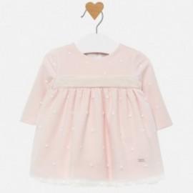 Sukienka tiulowa z haftem dla dziewczynki Mayoral 2820-89 Różowy