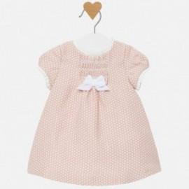 Sukienka w groszki dla dziewczynki Mayoral 2822-14 Różowy