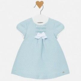 Sukienka w groszki dla dziewczynki Mayoral 2822-15 Niebieski