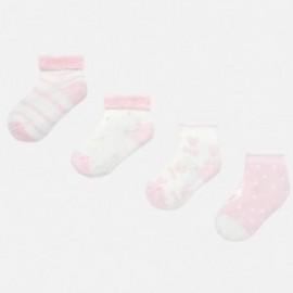 Zestaw 4 pary skarpetek dla dziewczynki Mayoral 9157-57 Różowy
