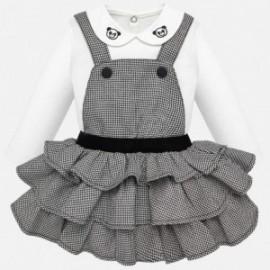 Komplet bluzka i spódnica ogrodniczka dla dziewczynki Mayoral 2623-14 Czarny