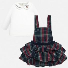 Komplet bluzka i spódnica ogrodniczka dla dziewczynki Mayoral 2623-15 Granatowy