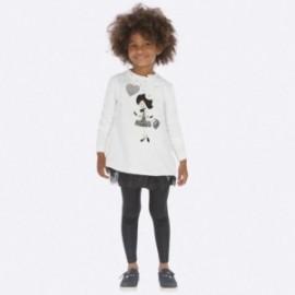 Komplet bluzka i leginsy dla dziewczynki Mayoral 4707-44 Czarny