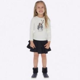 Komplet bluzka i spódnica bawełniana dziewczęcy Mayoral 4950-32 Granatowy