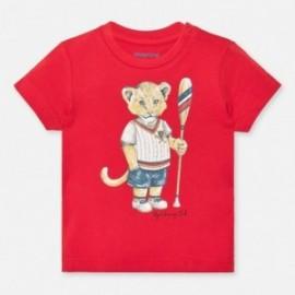 Koszulka bawełniana dla chłopców Mayoral 1046-25 czerwony