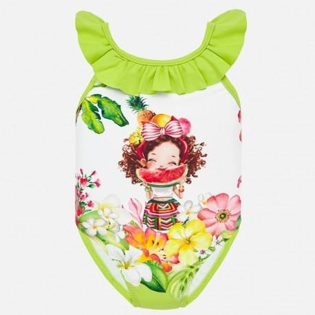 Strój kąpielowy dla dziewczynek Mayoral 1717-65 zielony