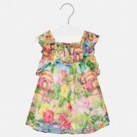 Sukienka szyfonowa dziewczęca Mayoral 1939-7 zielona