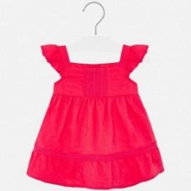 Sukienka lniana dla dziewczynek Mayoral 1941-79 malina