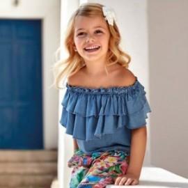 Bluzka luźna dla dziewczynka Mayoral 3187-5 niebieska