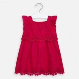 Sukienka popelinowa z haftem dziewczynka Mayoral 3952-49 czerwony