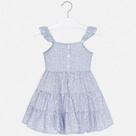 Sukienka w paski dla dziewczynki Mayoral 3953-8 błękitny