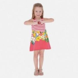 Sukienka bawełniana dla dziewczynek Mayoral 3961-11 czerwony