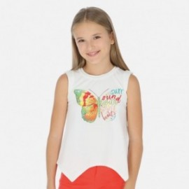 Koszulka na ramiączkach dla dziewczynek Mayoral 6027-94 Biały
