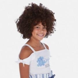 Koszulka na ramiączkach dla dziewczynek Mayoral 6029-27 Biały