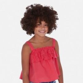 Bluzka luźna z haftem dziewczynka Mayoral 6171-79 malina