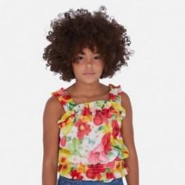 Bluzka z gazy dla dziewczynki Mayoral 6172-75 czerwony