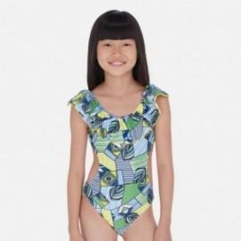 Strój kąpielowy z falbanką dla dziewczynek Mayoral 6725-10 niebieski