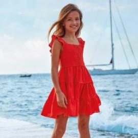 Sukienka bawełniana dla dziewczyn Mayoral 6973-32 czerwony
