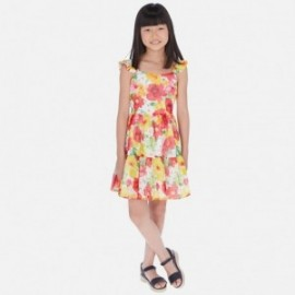 Sukienka z nadrukiem dla dziewczyn Mayoral 6981-75 czerwony