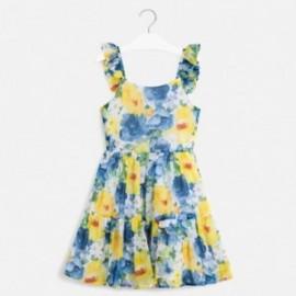 Sukienka z nadrukiem dla dziewczyn Mayoral 6981-76 niebieski