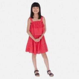 Sukienka popelinowa dla dziewczyn Mayoral 6982-79 malina