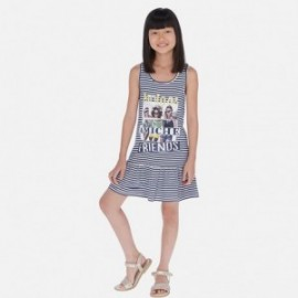Sukienka w paski dziewczęca Mayoral 6987-92 Granatowy