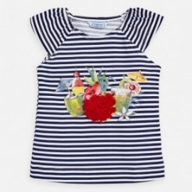 Koszulka w paski dla dziewczynki Mayoral 3028-25 Granatowy