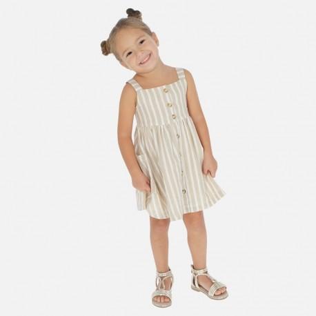 Sukienka lniana dziewczęca Mayoral 3944-28 Beżowy