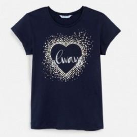 Koszulka z krótkim rękawem dziewczęca Mayoral 6017-68 Granatowy