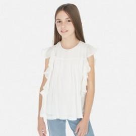 Bluzka szyfonowa dziewczęca Mayoral 6163-37 Kremowy