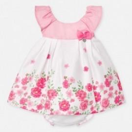 Sukienka w kwiaty dla dziewczynki Mayoral 1880-36 Różowy