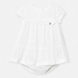 Sukienka plumeti dla dziewczynki Mayoral 1884-70 Biały
