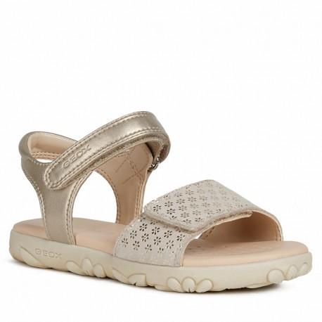 Sandały dziewczęce Geox J028ZA-007NF-C2010 Złoty