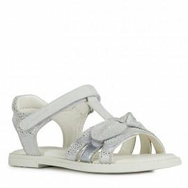 Sandały dziewczęce Geox J0235G-007BC-C1000 Srebrny