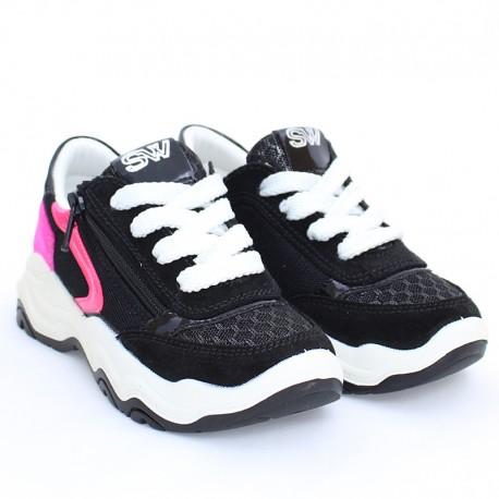 Sneakersy dla dziewczynki IMAC 5306001-7000-6 czarne