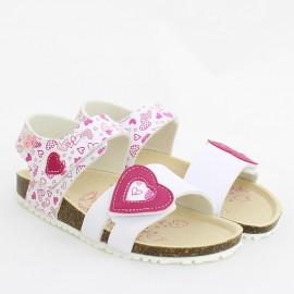 Sandały dla dziewczynki Garvalin 202661-A białe