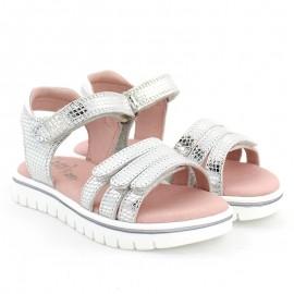 Sandały dziewczęce Garvalin 202652 srebrne