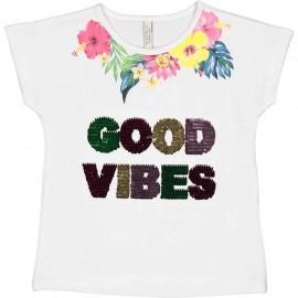T-shirt krótki rękaw dziewczecy TRYBEYOND 84440-11A biały