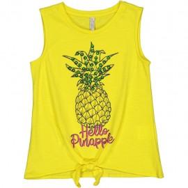 Bluzka na ramiączkach dla dziewczynki TRYBEYOND 84441-35C żółta