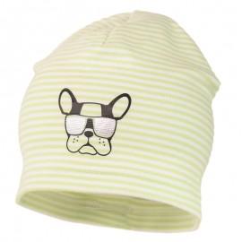 ARON czapka w paski dzianiniwa chłopięca Jamiks JWC173 kolor seledyn