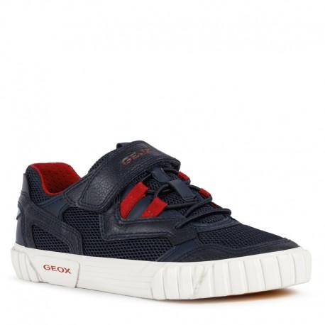 Sneakersy chłopięce Geox J02A7D-014BU-C0735 granat