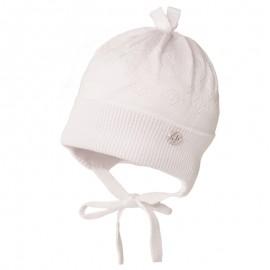 ANDERS czapka wiązana chłopięca Jamiks JWC045 kolor biały