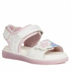 Sandały dla dziewczynek Geox J028UB-0AJ15-C1000 biały